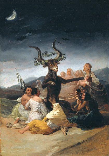 Heksensabbat, Francisco Goya op canvas, behang, poster en meer