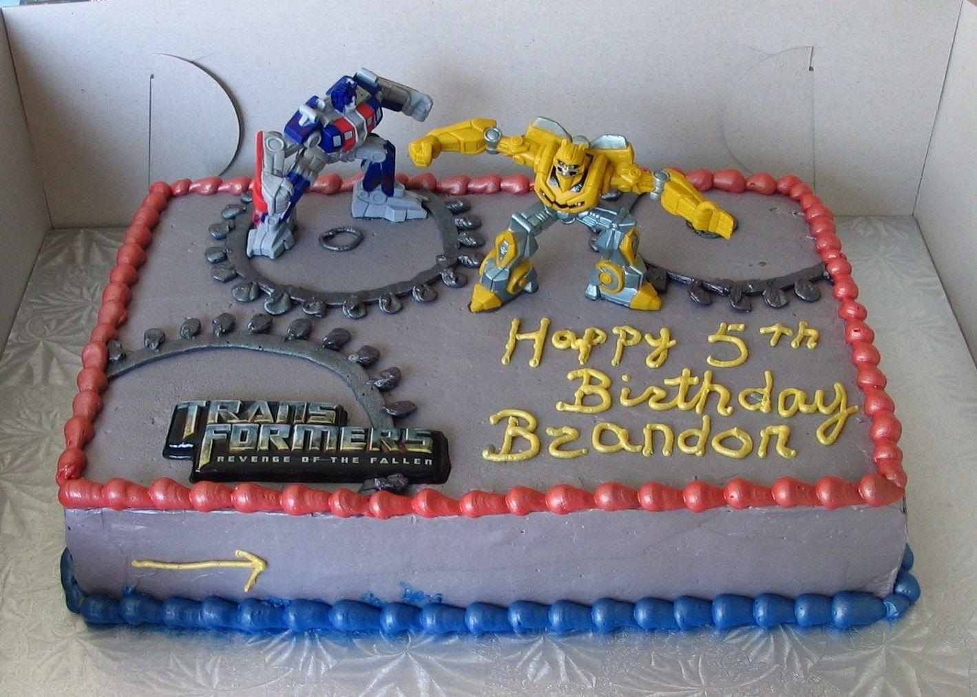 Transformers Prime Edible Party Cake Topper Image Sheet
