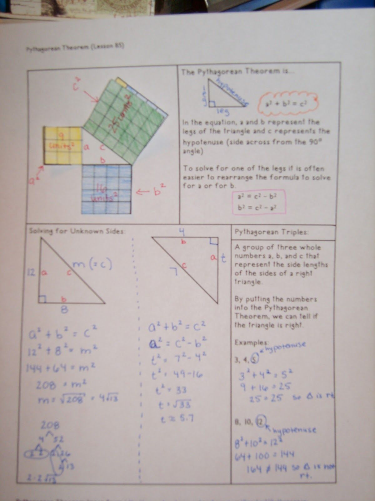 A Sea of Math: Pythagorean Theorem