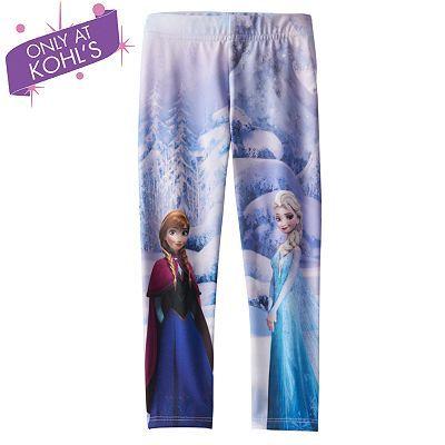 b3682a927523f Disney Frozen Elsa & Anna Fleece-Lined Leggings by Jumping Beans® - Girls 4- 7