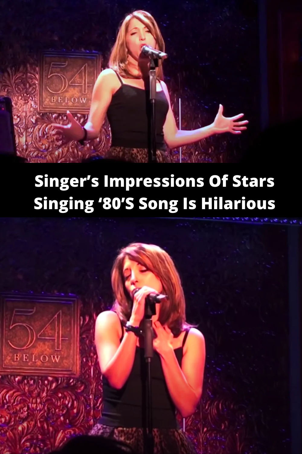Singer's Impressions Of Stars Singing '80'S Song Is Hilarious