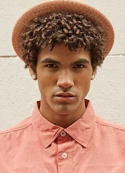 Hairstyles For Curly Hair Black Guys : Cool hairstyle for black men milo hairs pinterest man