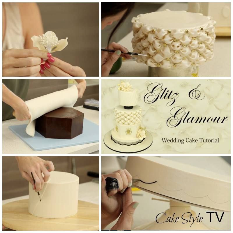 step by step http://cakestyle.tv/products/glitz-and-glamour-wedding-cake/