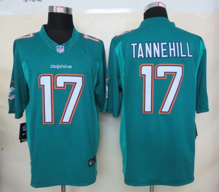 1e623e1c Nike Miami Dolphins 17 Ryan Tannehill 2013 Green Limited New Logo ...