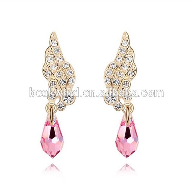 18K Gold Plate Austrian Crystal Made with Fashion Design earrings/stud/drop For Women Swarovski Design Gift Box uIN5JCMI