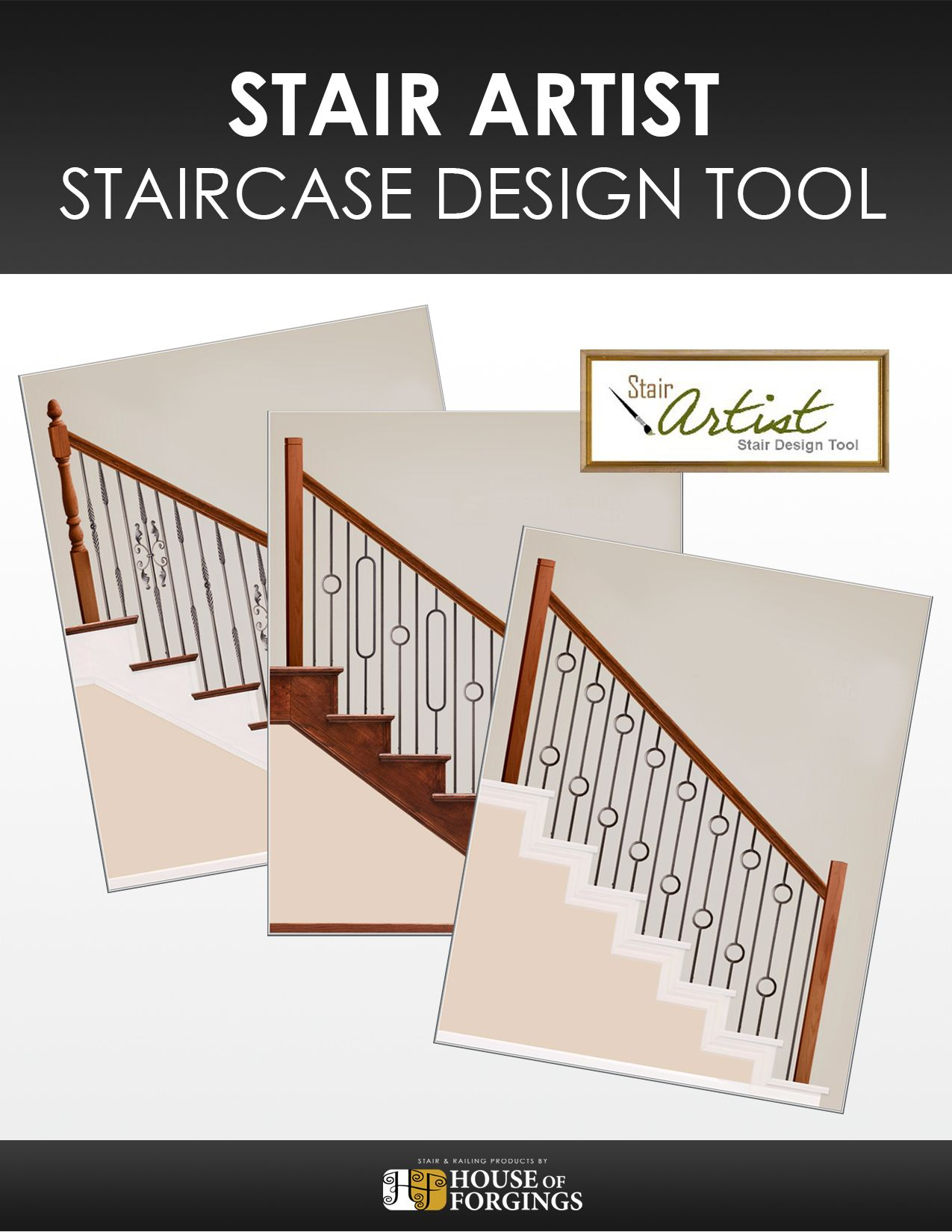 Create your perfect stair design by dragging and dropping balusters and newels into over 27 staircase