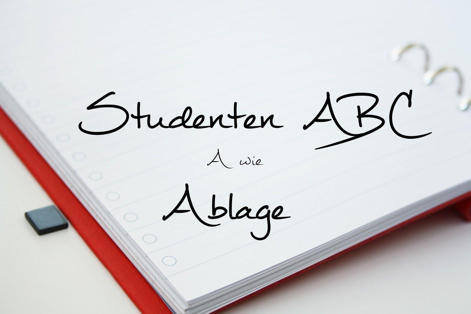 A wie Ablage | Studenten ABC