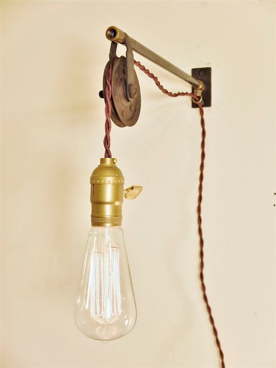 vintage industrial pulley lamp wall mount pendant light steampunk light industrial lighting swag retro sconce cafe lighting