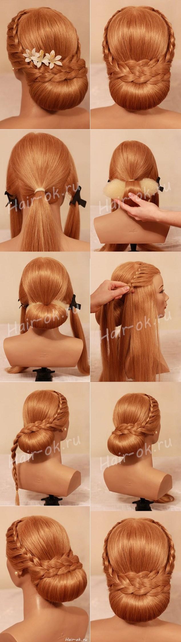 Diy beautiful evening hairstyle ヘアアレンジ pinterest evening