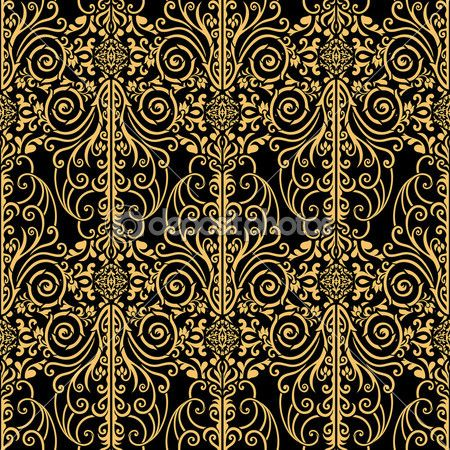 Abstract Royal Gold And Black Vintage Background Background