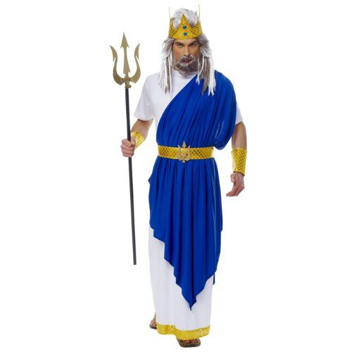 amazoncom neptune roman god adult costume clothing attach more fabric from - Amazon Halloween Costumes Men