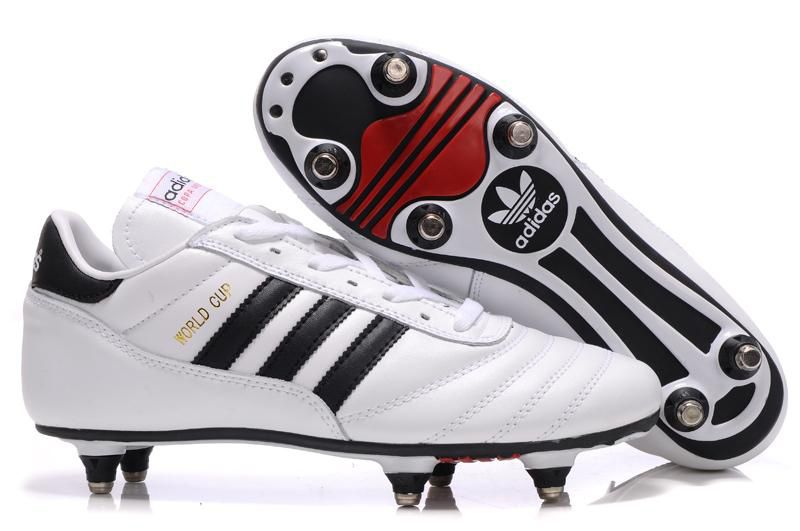 Chaussures De Foot Adidas Copa Mundial Fg Sg Blanc Noir Pas Cher Adidas Soccer Shoes Soccer Boots Leather Soccer Cleats