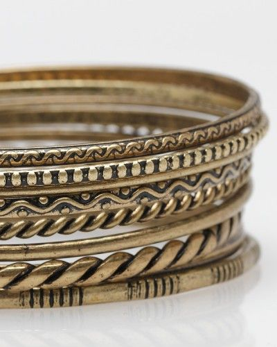 Antiqued Bangles // Need Supply