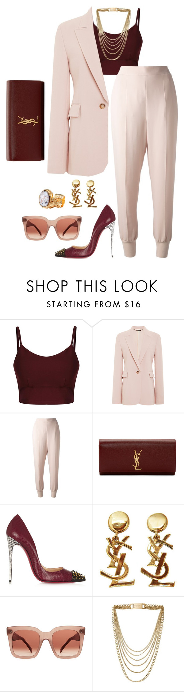 """""""Dressed  For Success"""" by fashionkill21 ❤ liked on Polyvore featuring Wes Gordon, STELLA McCARTNEY, Yves Saint Laurent, Christian Louboutin, CÉLINE and Michael Kors"""