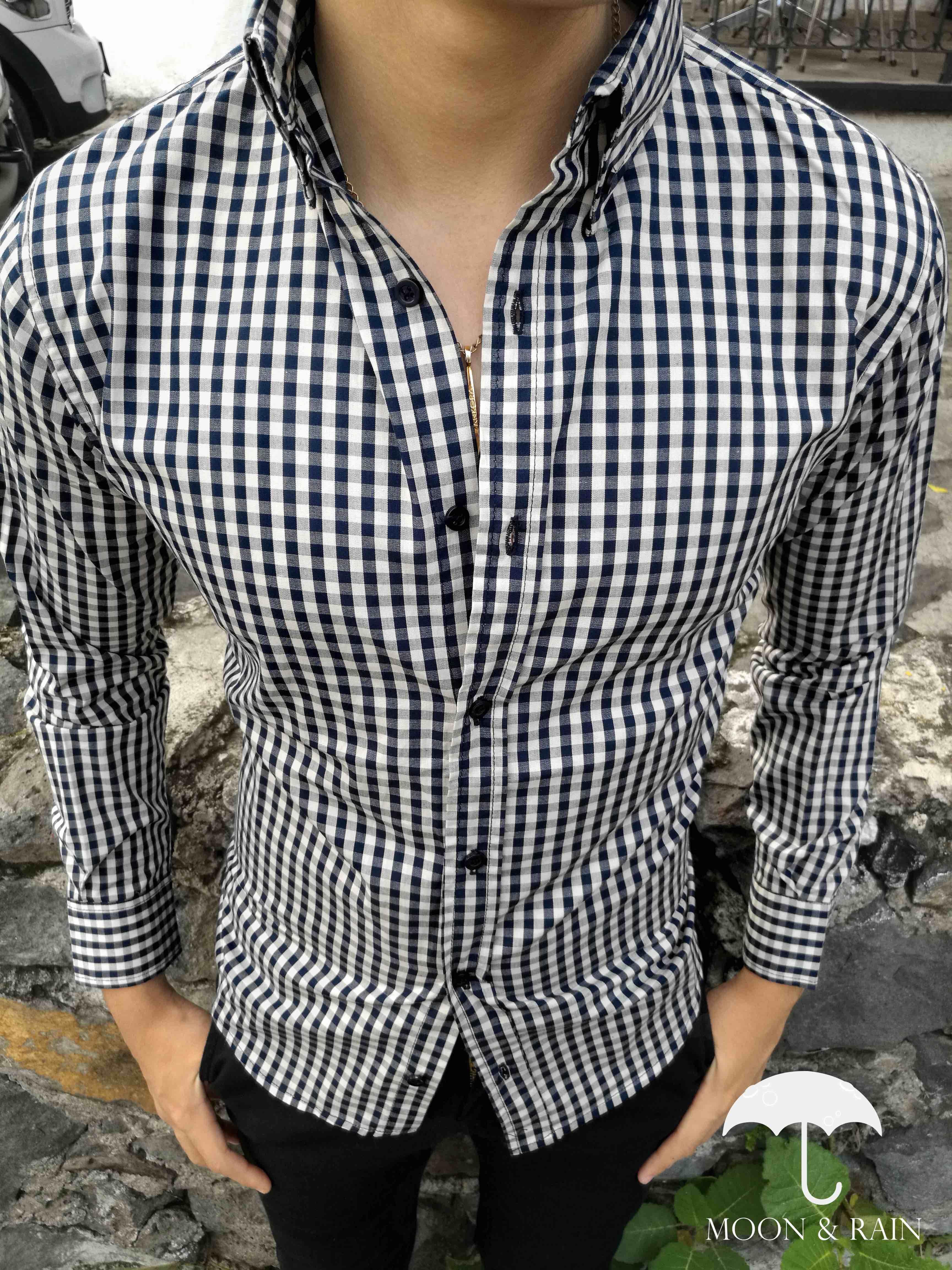 Camisa de cuadros de lujo para caballero d7d04bfca6a37