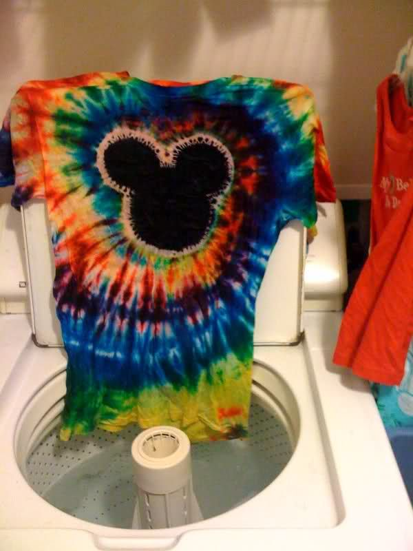 Tie Dye Instructions For Spiral Mickey Shirt Page 117 The Dis