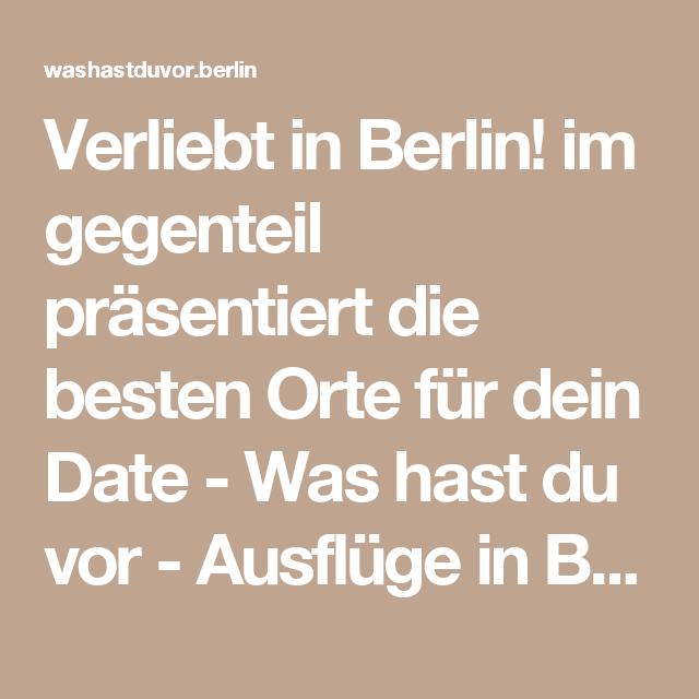 Im gegenteil dating Berlijn