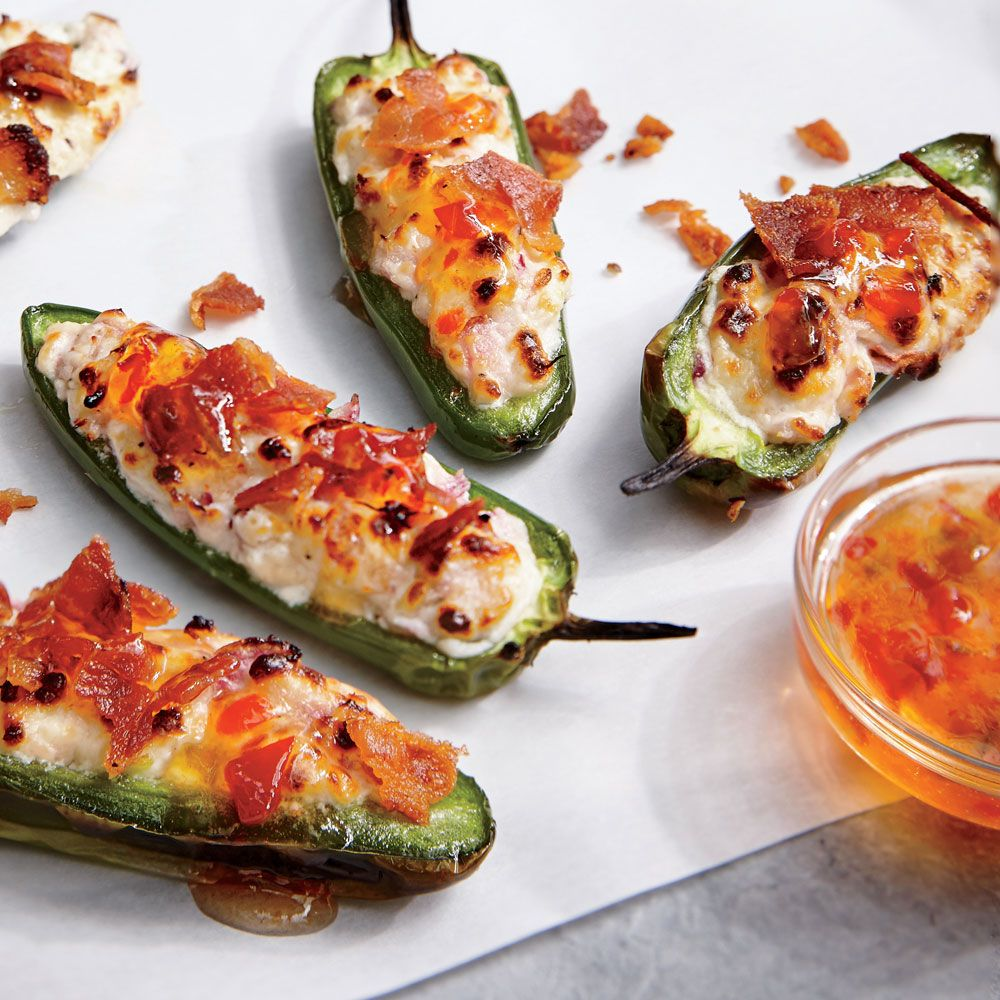 Bacon Goat Cheese Jalapeño Poppers   Superfast Appetizers   Cooking Light Awesome Ideas