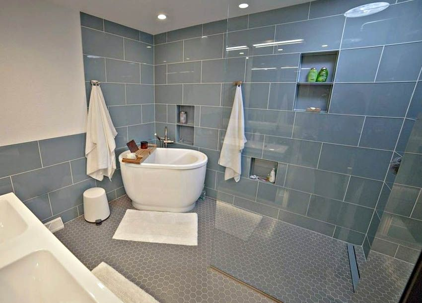 Tub Inside Shower (Design Ideas)