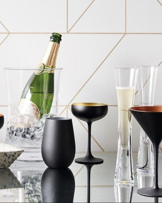 Tall Clean Modern These Handmade Champagne Flutes Are As