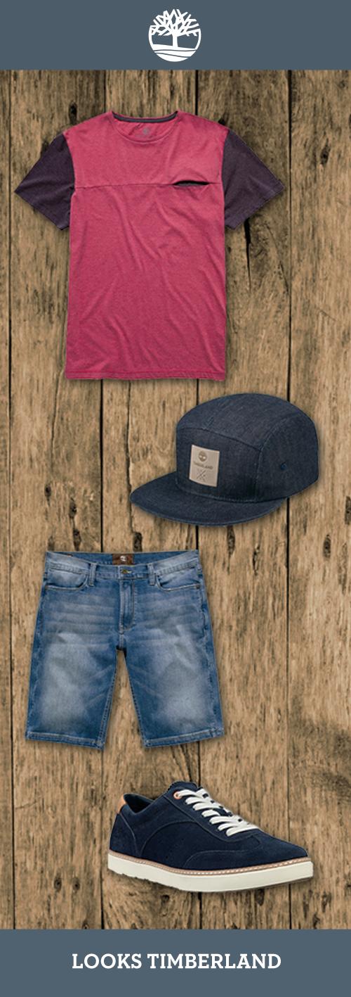 Nossa dica para um look ideal de verão inclui roupas leves e cheias de estilo, você vai aproveitar o mundo outdoor aonde quer que vá! Camiseta Bolso Embutido, bermuda Jeans, tênis EK Hudston OX e boné Jeans. Encontre na Timberland mais perto de você!