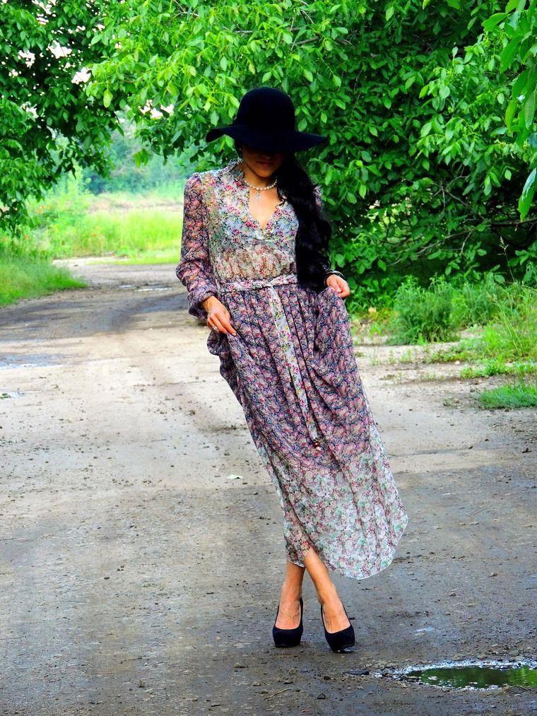 НОВИНКА! БОХО платье из микса шелкового шифона - Ярмарка Мастеров - ручная работа, handmade