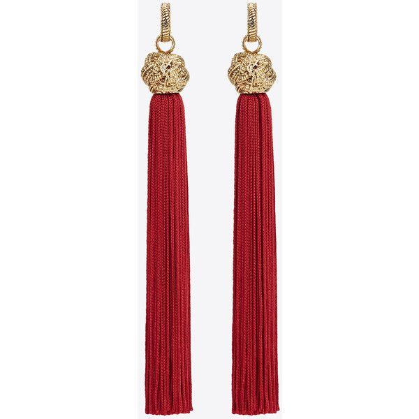 LouLou chain tassel earrings Saint Laurent qOwm5YLB