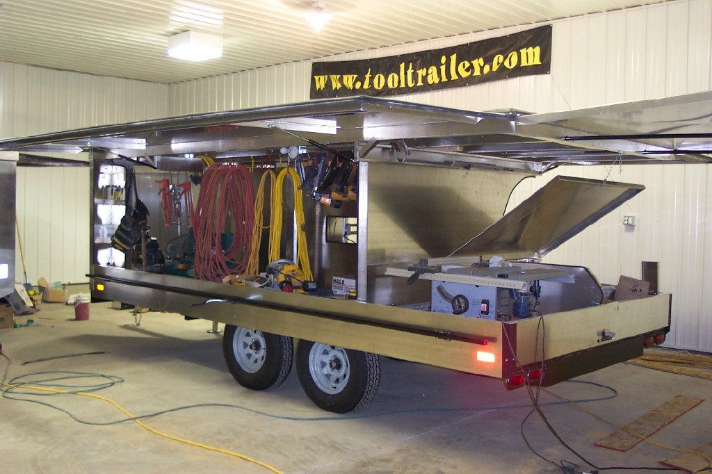 Tool trailers black hills trailer mobile office for Rv workshop