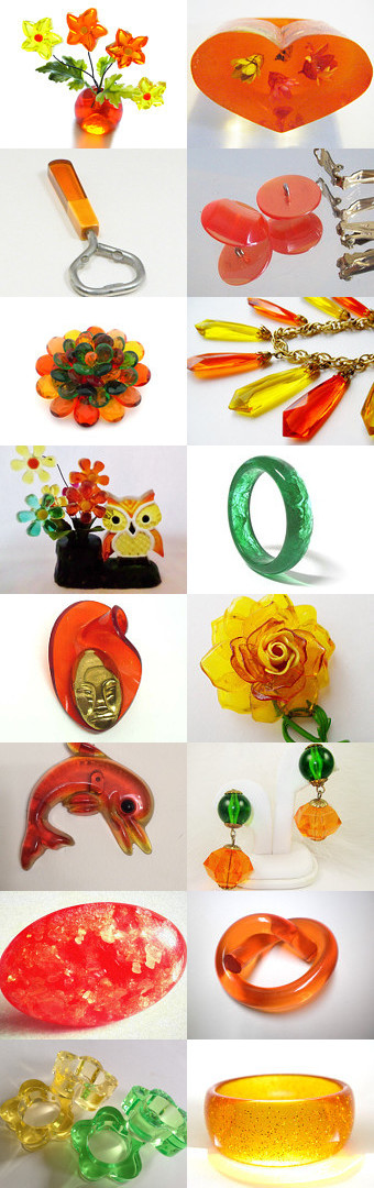 Stunning Lucite Brights by Victoria on Etsy--Pinned with TreasuryPin.com