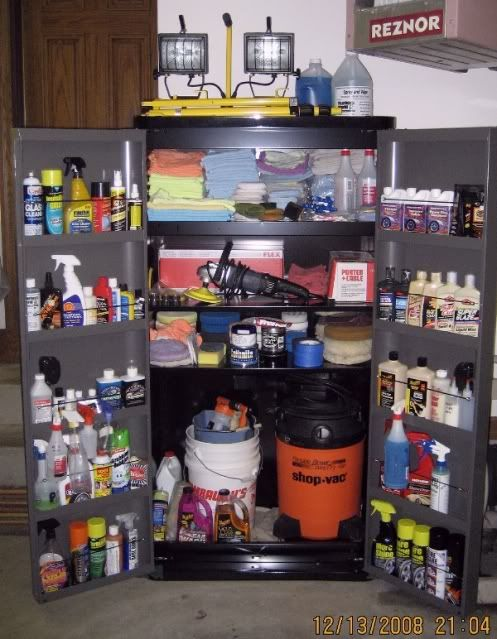 Professional Car Detailing Supplies >> Storage Of Detailing Supplies Auto Geek Online Auto Detailing