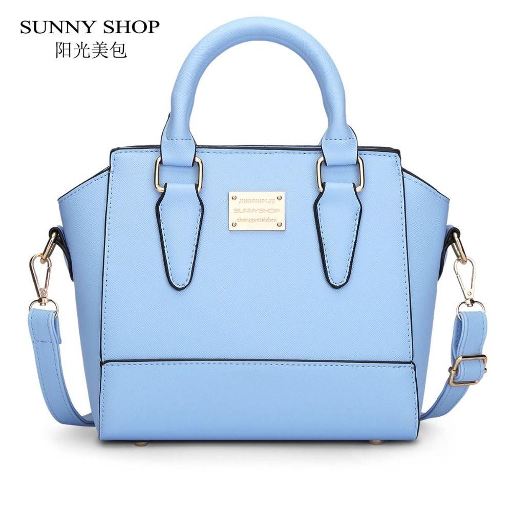 9cb4e4fd1 Barato Sunny shop bonito mulheres mensageiro sacos pequenos sacos de couro  de alta qualidade pu sacos