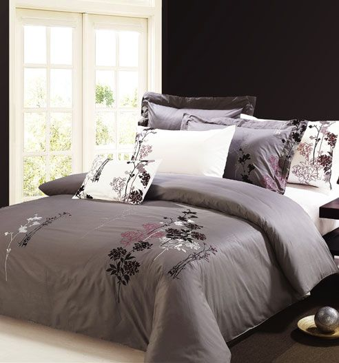 Purple And Grey Bedding Home Design Ideas Bedroom