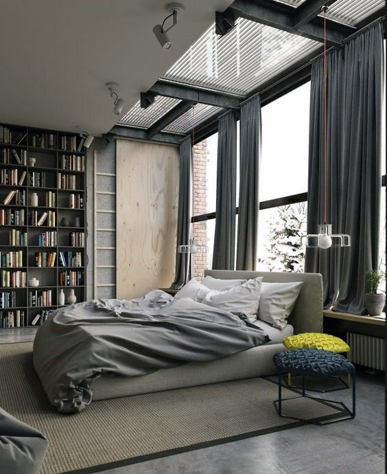 80 Bachelor Pad Men S Bedroom Ideas Manly Interior Design Industrial Style Bedroom Industrial Bedroom Design Home Decor Bedroom Men's industrial bedroom ideas