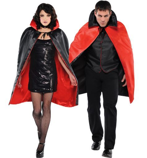 Black  Red Reversible Vampire Cape - Party City holidayhalloween - party city store costumes