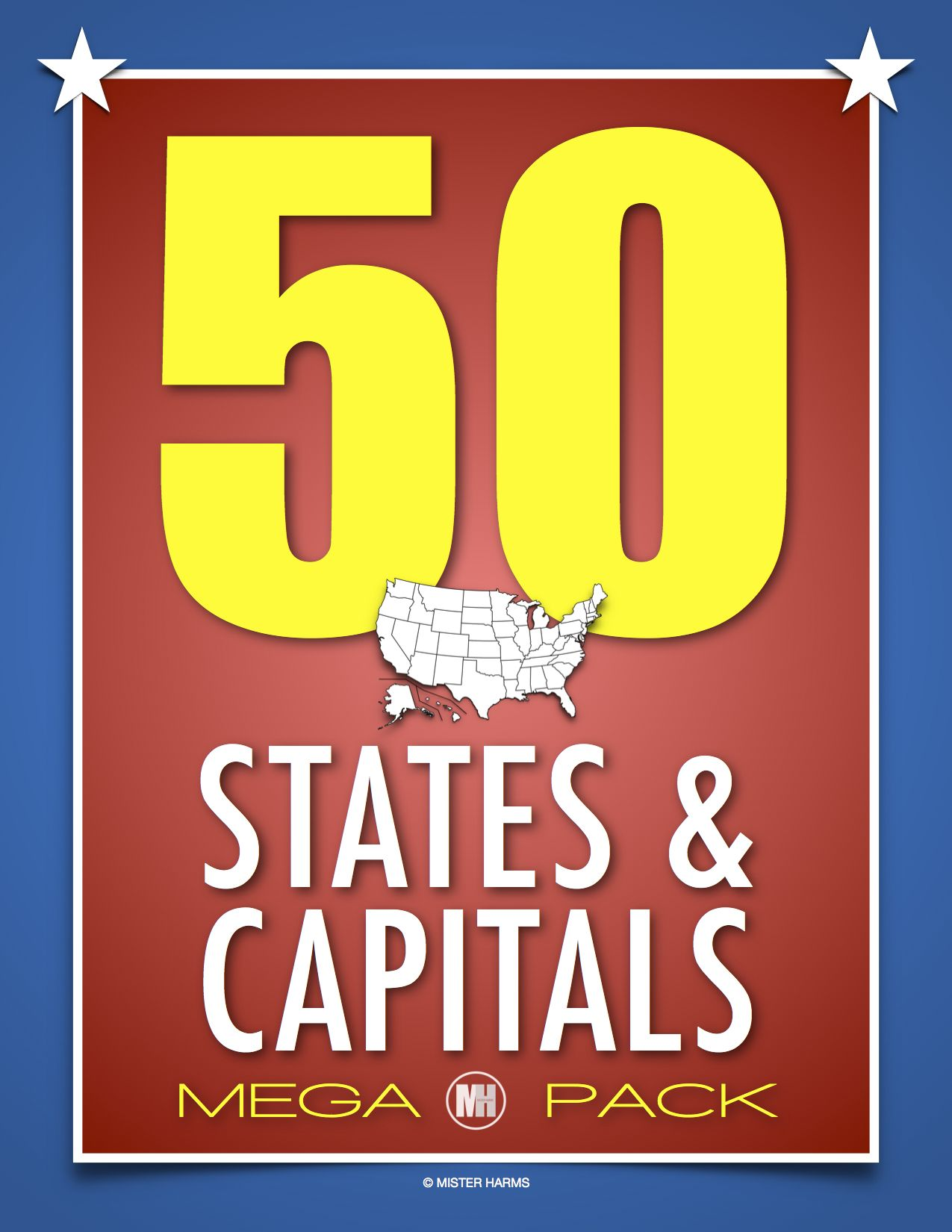 50 States And Capitals Activities Maps Tests State