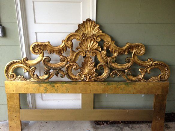 Gold Guilded Wood King Size Headboard In Venice Beach Recreation Center 1800 Ocean Front Walk