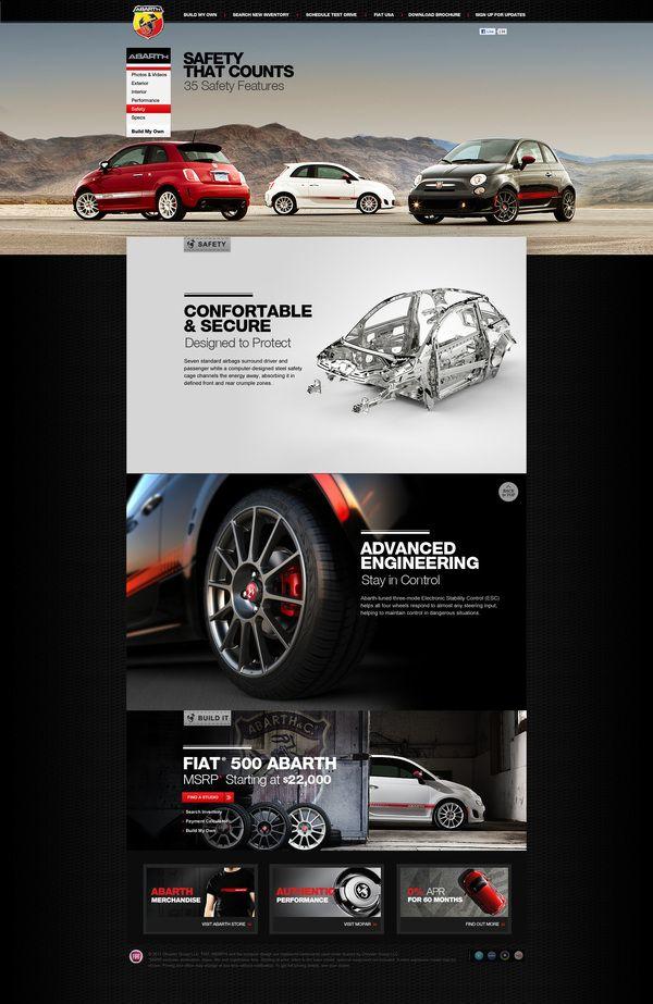 Fiat 500 Abarth Website Design on Web Design Served | Website Grids