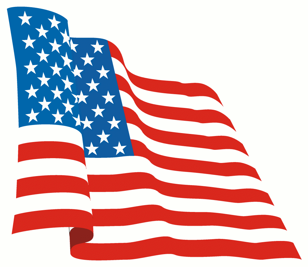 Waving American Flag Clip Art Free