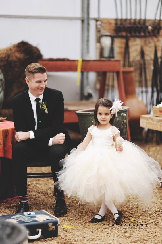 Flower Girl Tutu Dress lace back flower girl dress, 2014 flower girl dresses, White Flower Girl Dresses with flower