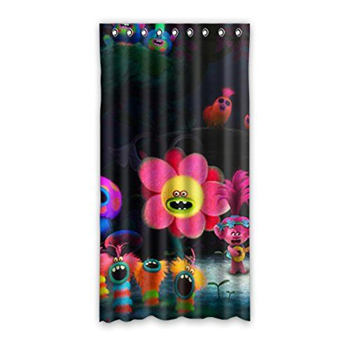 Dreamwork Troll Character Bedroom Curtains