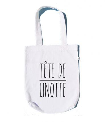 """Le sac plastique est mort, vive le Tote Bag !  Pratique, écologique, original... voici un Tote Bag """"à message"""" en coton bio à emporter partout avec soi pour un look inspiré et affirmé."""