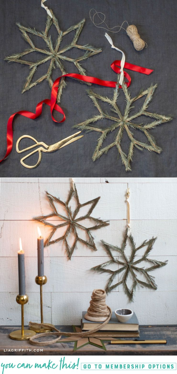Video Paper Pine Needle Scandi Star Decor Lia Griffith Winter Decorations Diy Crafts Paper Flower Tutorial Paper Crafts