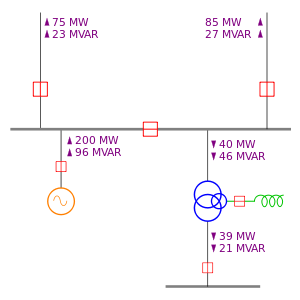 One Line Diagram Wikipedia The Free Encyclopedia Line Diagram Single Line Diagram Diagram