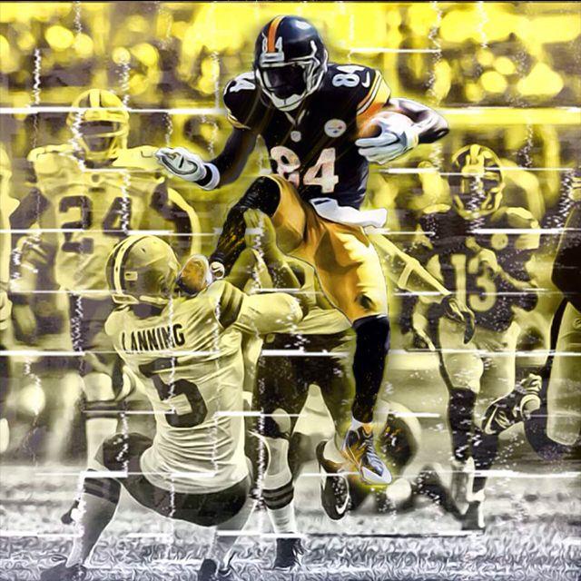 newest 69403 b8980 Pittsburgh Steelers #84 Antonio Brown   steelers   Steelers ...