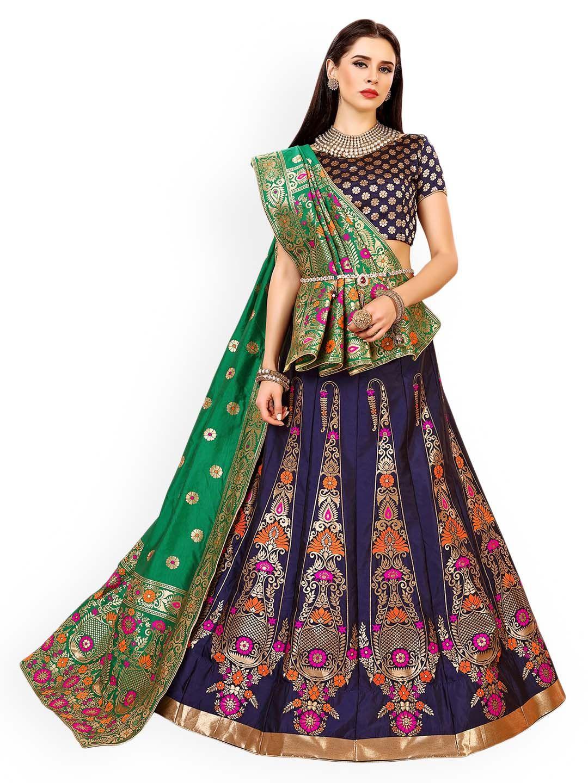 2ee533aab90 Chhabra 555 Purple   Green Embellished Silk Unstitched Lehenga   Blouse  With Dupatta - Lehenga Choli for Women  lehenga  lehengacholi   traditionalwear ...