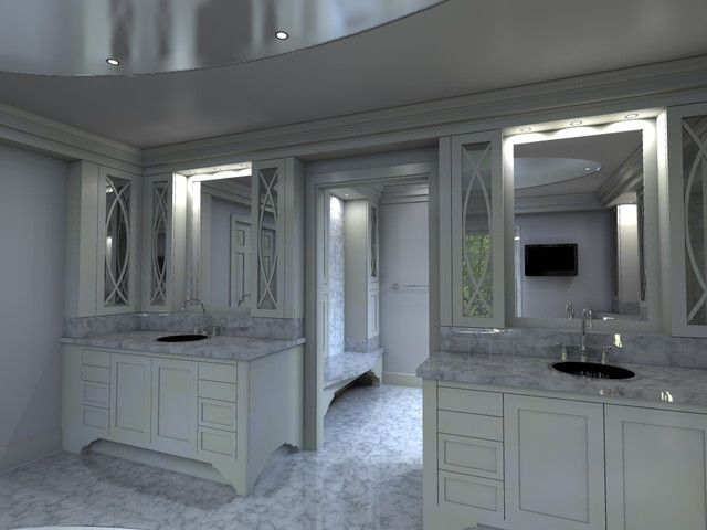 Bathroom And Walk In Closet Designs Glamorous Luxurymasterbathroomwithwalkinclosetdesigninhomeinterior Review