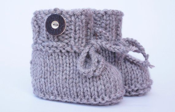new style 1463b 32551 Babyschuhe Trachtenschuhe gestrickt knitted baby shoes ...