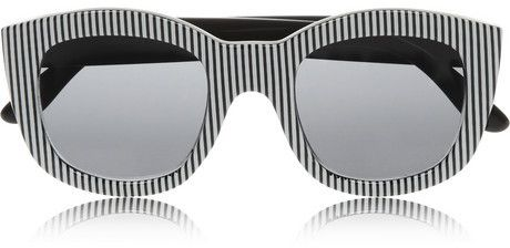 06d4004f563d9 Le Specs Runaways striped square-frame acetate sunglasses on shopstyle.com