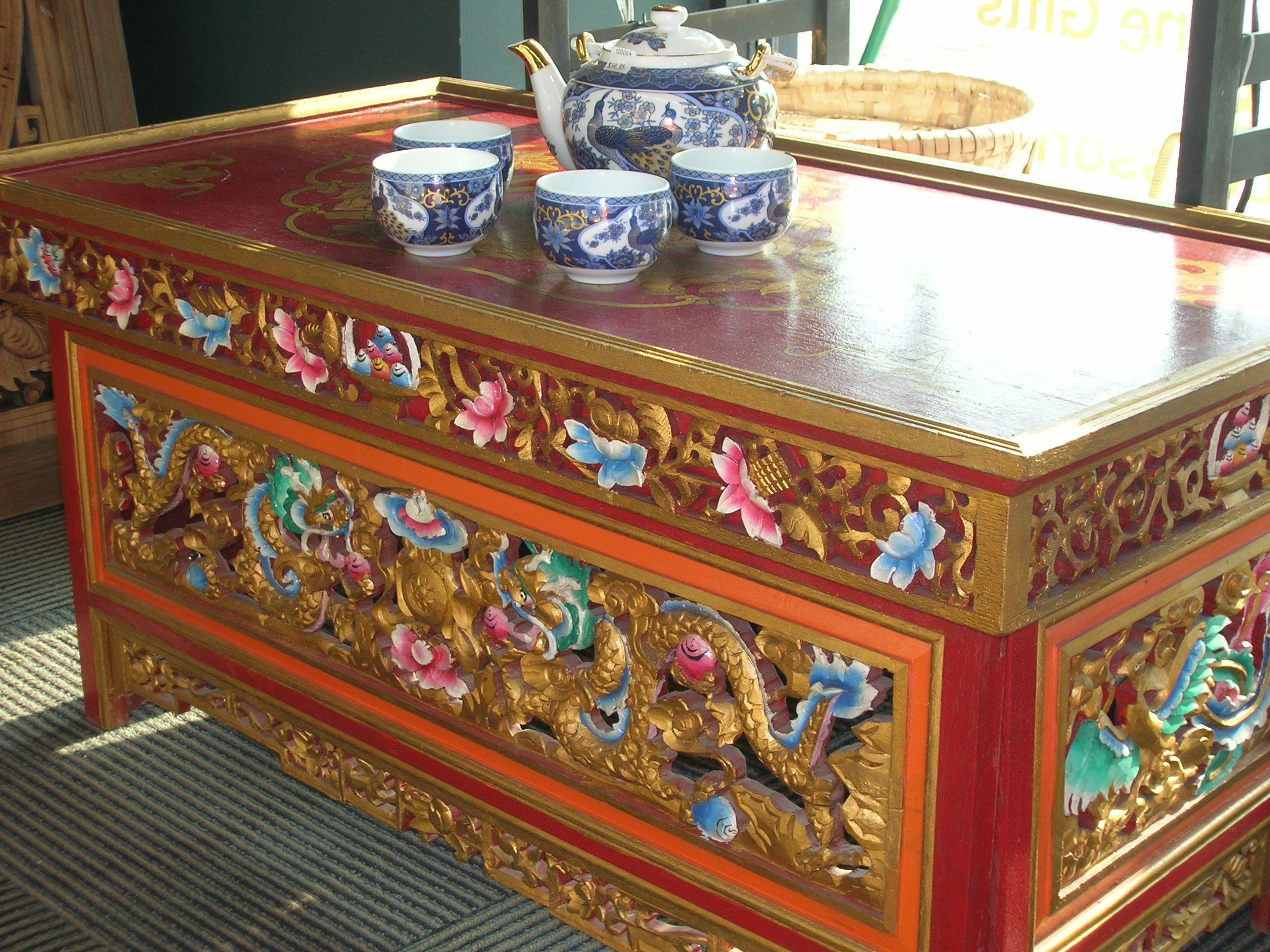 Genial Hand Carved Traditional Tibetan Table. Perfect For Tea, Or Setting Up A  Special Altar In Your Meditation Room.