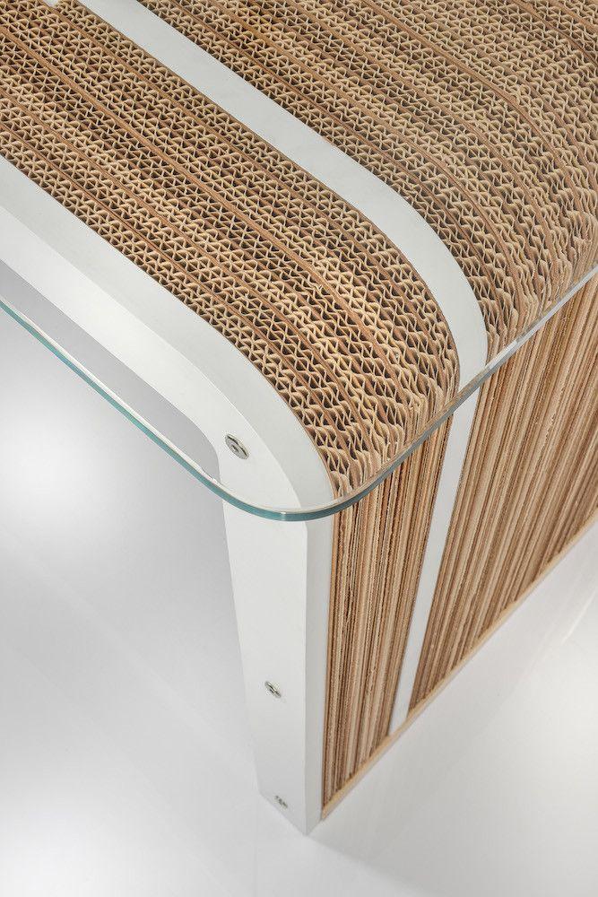 Tavolo scrivania in cartone more plus desk di lessmore for Mobili di design d occasione
